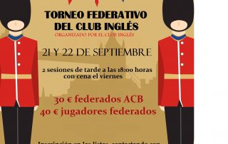 CARTEL TORNEO DE BRIDGE THE BRITISH CLUB