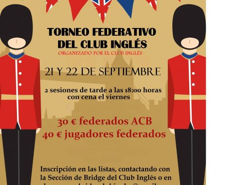 TORNEO DE BRIDGE THE BRITISH CLUB