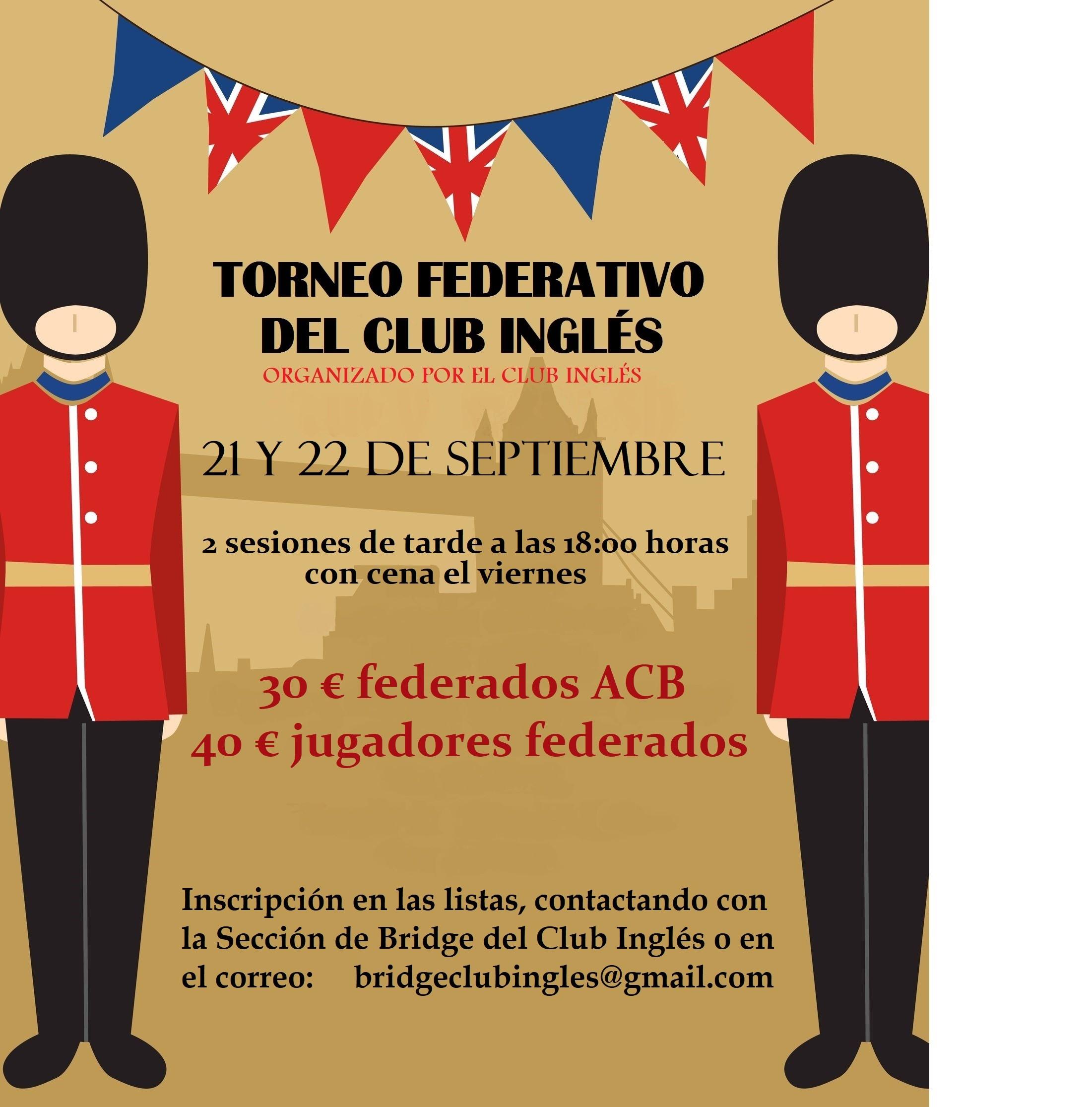 TORNEO DE BRIDGE THE BRITISH CLUB